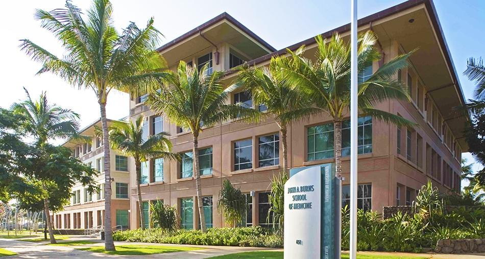 Front View of John A. Burns School of Medicine