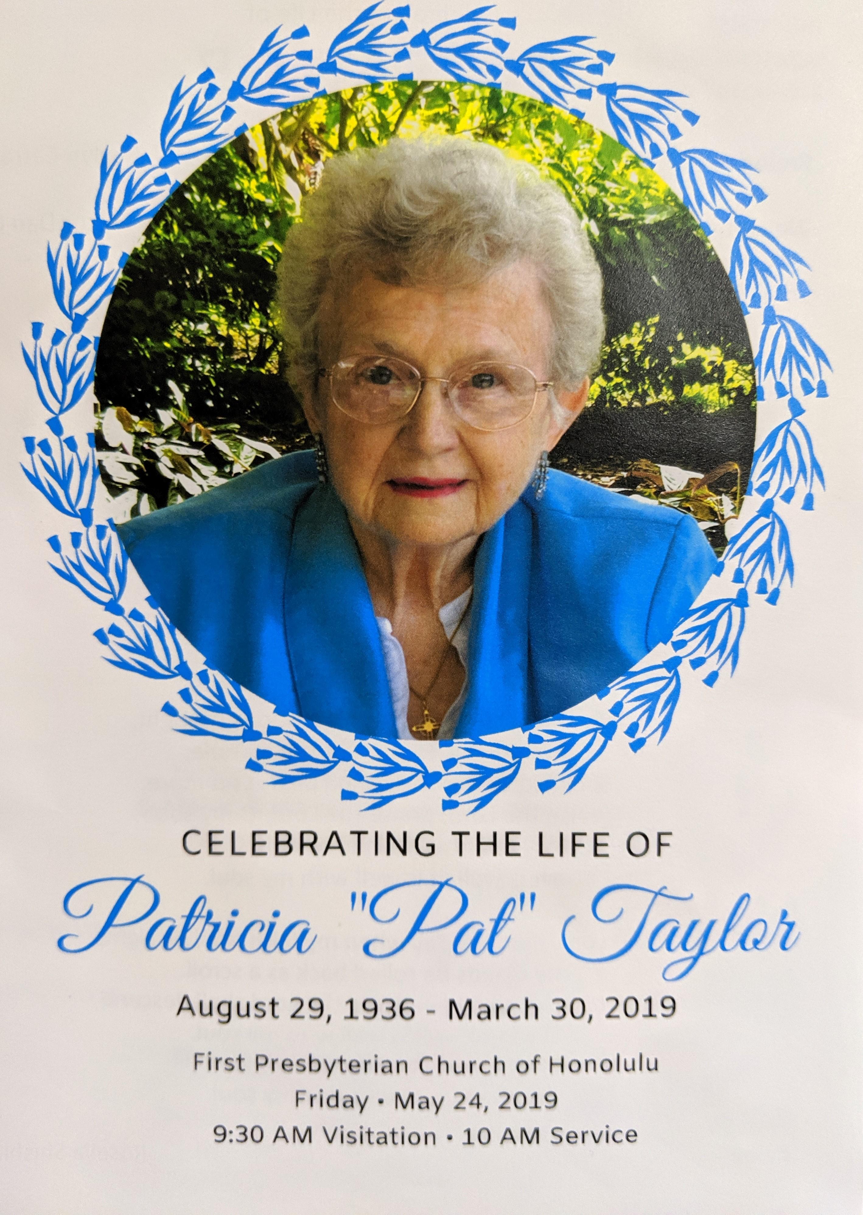 Pat Taylor Celebration of Life